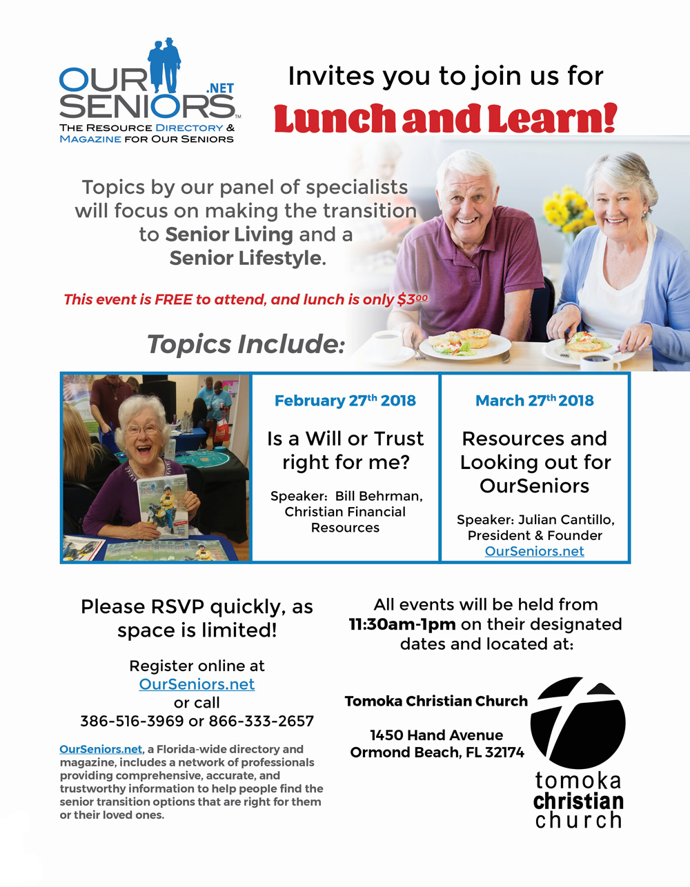 Don't miss out on the next Lunch & Learn – OurSeniors.net
