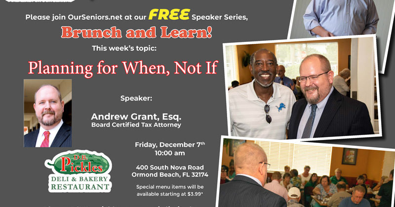 The next Brunch & Learn is on Dec 7th