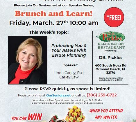 Learn about Protecting your Assets at our Brunch and Learn on March 27!
