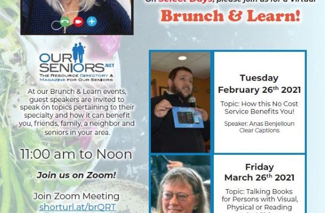 Join us for our Virtual Brunch & Learn Feb 26th